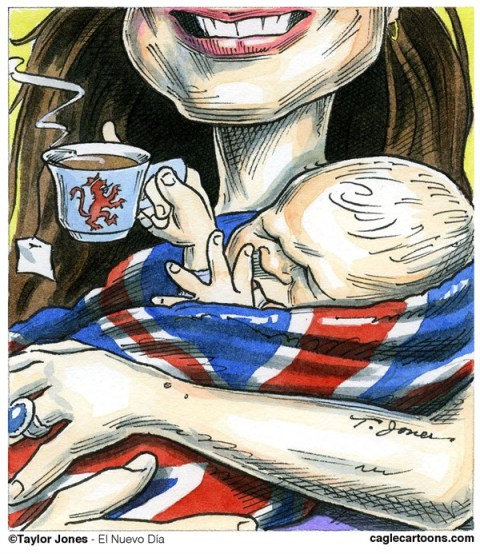 Taylor Jones - El Nuevo Dia, Puerto Rico - Prince George and his Mum - COLOR - English - prince,george,alexander,louis,royal,baby,family,kate,middleton,william,cambridge,windsors,grandchild,england,great,britain,united,kingdom,motherhood