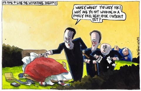 Iain Green - The Scotsman, Scotland - UK CONSERVATIVE WELFARE REFORMS - English - UK, conservatives, party conference, george osborne, david cameron, iain duncan smith, unemployed, work, workfare, welfare, benefits, jobs, zero hour contracts, low pay, bed, whips