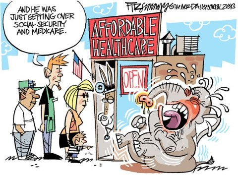 David Fitzsimmons - The Arizona Star - get over it - English - republicans, affordable care act