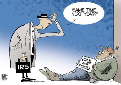 Randy Bish - Pittsburgh Tribune-Review - TAX TIME, COLOR - English - TAX, TAXES, IRS