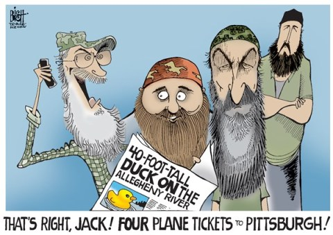 Randy Bish - Pittsburgh Tribune-Review - LOCAL, RUBBER DUCKY IN PITTSBURGH, COLOR - English - PITTSBURGH, DUCK, RUBBER DUCK, RUBBER DUCKY, DUCK DYNASTY, RIVER