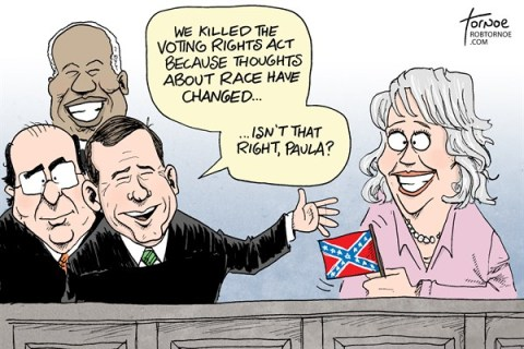 Rob Tornoe - WHYY -  - English - Supreme Court, SCOTUS, voting rights act, voter ID, south, racism, Paula Deen,