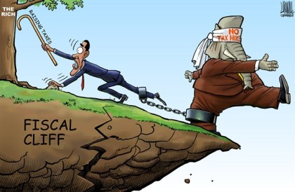 Cumbrance © Luojie,China Daily, China,Cumbrance,US,Obama,GOP,raise tax,no tax hike,the rich,fiscal cliff, taxes common ground