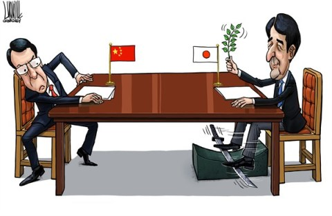 Luojie - China Daily, China - Sharpening - English - sharpening,China,Japan,Shinzo Abe,peace talk,Diaoyu islands