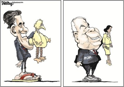 Whacking Susan Rice © Bill Day,Cagle Cartoons,Susan Rice,John McCain,GOP,Obama,Big Bird,rice benghazi