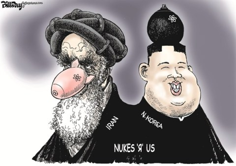 Bill Day - Cagle Cartoons - Nukes 'R' Us - English - Iran, N Korea, nukes, arms control