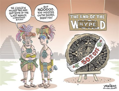 End of the World Hype © Grame MacKay,The Hamilton Spectator, Ontario Canada,end,world,hype,sale,mayan calendar, mayan calendar 2012