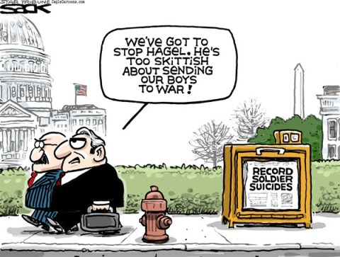 Steve Sack - The Minneapolis Star Tribune - Hagel's Problem color - English -