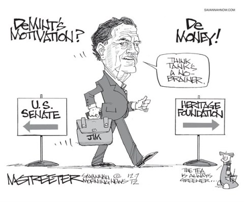 Govt A Little Less Demented © Mark Streeter,The Savannah Morning News,demint,motivation
