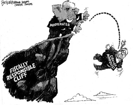 Fiscal Cliff Responsibility © Steve Benson,Arizona Republic,fiscal cliff,responsibility,grover norquist,gop,moderates,norquist-no-tax