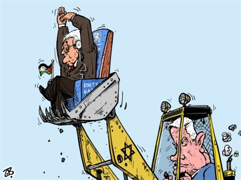 Emad Hajjaj - Jordan - Israel's settlements - English - UN vote for Palestine,UN membership,observer member,president Abbas,Netanyahu,Israel,Obama,bulldozer,UN seat,objection,Peace treaty,occupation,Jewish settlers,Palestinian lands,Middle east,Emad Hajjaj,