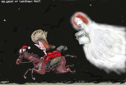 Ghost of Christmas Past © Moir,The Morning Herald, Sydney Australia,ghost,past,calamity,jane