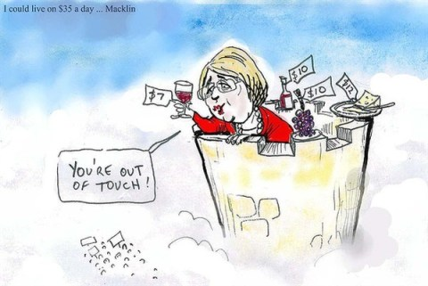 Out of Touch © Moir,The Morning Herald, Sydney Australia,
