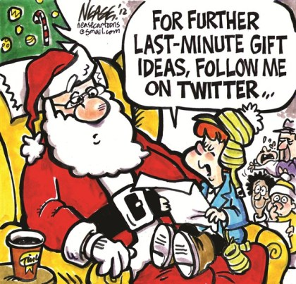 Last Minute Gifts © Steve Nease,Freelance,santa,follow,tweet,list,kids,Christmas 2012, gifts, santa 2012, Twitter