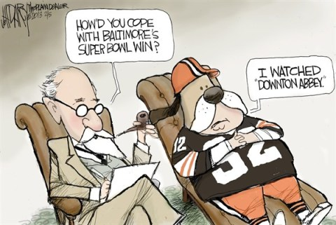 Jeff Darcy - The Cleveland Plain Dealer - Ravens Win - English - ravens,tv,fans,win,super bowl,downtown abbey,super-bowl-2013
