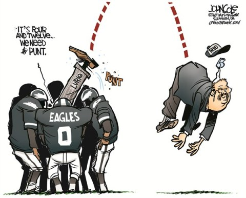 John Cole - The Scranton Times-Tribune - LOCAL PA -- Eagles fire Andy Reid COLOR - English - nfl, football, philadelphia eagles, eagles, andy reid, coaches