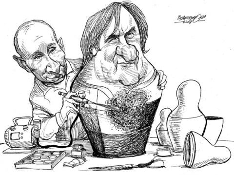 Petar Pismestrovic - Kleine Zeitung, Austria - New Cult Figure from Russia - English - 	Gerard Depardieu, Movie, France, Poltic, Russia, Putin, Tax