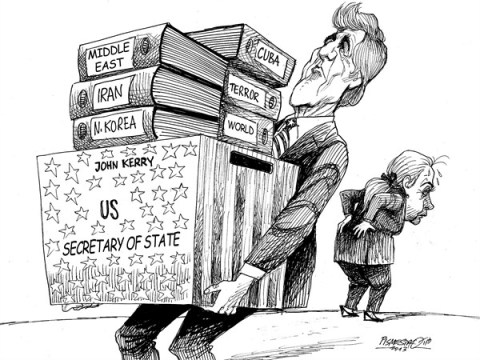 Petar Pismestrovic - Kleine Zeitung, Austria - Heavy Load - English - John Kerry, Hillary Clinton, USA, Secretery, Politic, Iran, Middle East