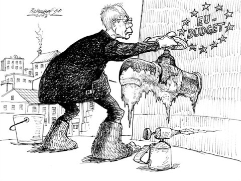 Petar Pismestrovic - Kleine Zeitung, Austria - Iced - English - Vn Rompuy, Great Britain, Germany, France, EU, Europe, Euro, Budget