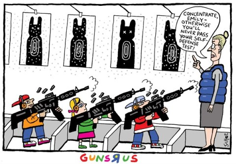 Schot - De Volkskrant, Netherlands - Guns R Us - English - guns