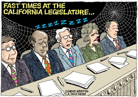 126803 600 LOCAL CA Fast Times in the CA Legislature cartoons