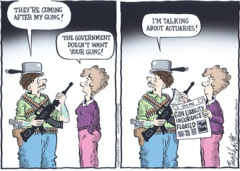 Bob Englehart - The Hartford Courant - Gun Control - English -