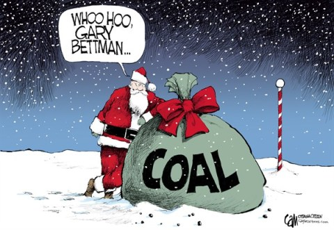 Coal © Cardow,The Ottawa Citizen,NHL,lockout,Gary,Bettman,hockey,santa 2012
