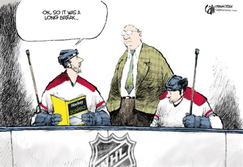 Cardow - The Ottawa Citizen - Long Break COLOR - English - NHL, hockey, lockout, season
