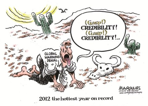 Jimmy Margulies - The Record of Hackensack, NJ - 2012 hottest year on record color - English - 2012 hottest year on record, Global warming, climate change, global warming denial, weather, drought, hurricanes