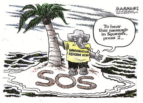 Jimmy Margulies - The Record of Hackensack, NJ - Republicans and immigration reform color - English - Republicans and immigration reform, Immigration reform, illegal aliens, 2012 election, Republican Party, Republicans and Hispanic vote, Latinos