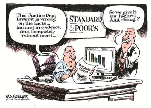 Jimmy Margulies - The Record of Hackensack, NJ - Standard and Poor's lawsuit color - English - Standard and Poors lawsuit, mortgage crisis, financial meltdown, Wall Street fraud, great recession, economy, housing, subprime mortgages