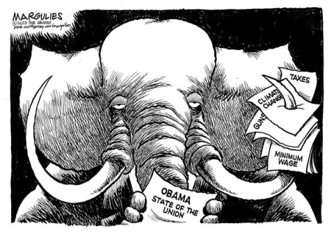 Jimmy Margulies - The Record of Hackensack, NJ - Republicans and Obama State of the Union - English - Obama State of the Union, Republican Congress, Gun Control, Climate Change, Taxes, Minimum wage, Obama agenda, Obama proposals