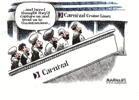 Jimmy Margulies - The Record of Hackensack, NJ - Carnival Cruise Lines color - English - Carnival Cruise Lines, Guantanamo, Al Qaeda, cruise ships, cruises