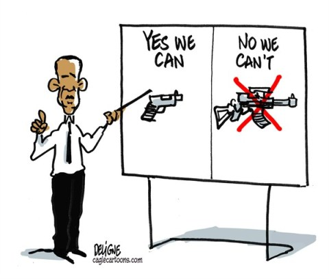 Frederick Deligne - Nice-Matin, France - Obama Guns - English - obama,guns,NRA,violence,murders,USA