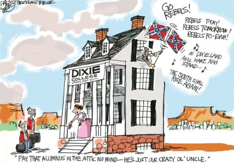 Pat Bagley - Salt Lake Tribune - LOCAL Utah's Dixie - English - Utah, Racist, Southern Utah, St George, Slaves, Slavery, Dixie College, Education