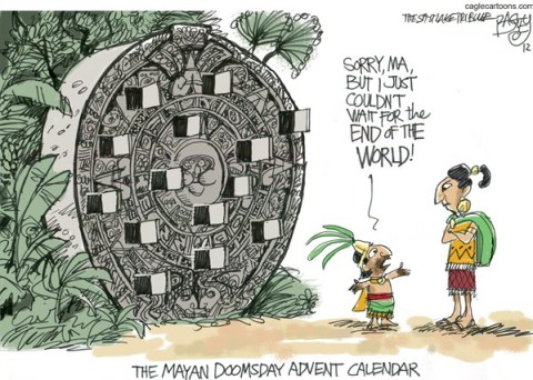 Pat Bagley - Salt Lake Tribune - Countdown to Doomsday - English - Doomsday, Maya, Mayans, Calendar, 12/21, December 21, End Times, Apocalypse