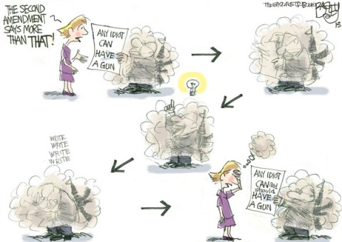 Pat Bagley - Salt Lake Tribune - Local Constitutional Scholar - English - Utah, Utah Legislature, NRA, Guns, gun nuts