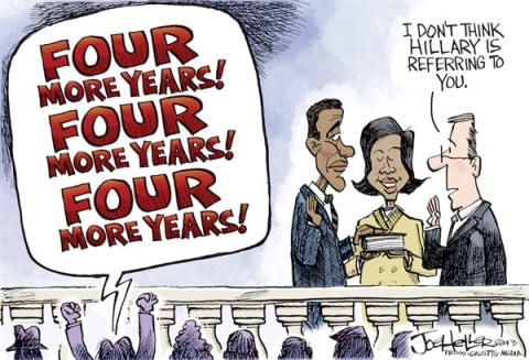 Joe Heller - Green Bay Press-Gazette - Inauguration day - English - inauguration day, Hillary Clinton, Barack Obama, swearing in, MLK day, election 2016