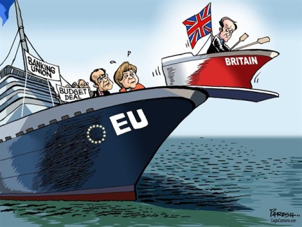 Paresh Nath - The Khaleej Times, UAE - Britain and EU - English - Britain, European Union, in-or-out policy,budget deal, banking union, euro sceptic, europhile, david cameron, out of EU, angela merkel, francois hollande