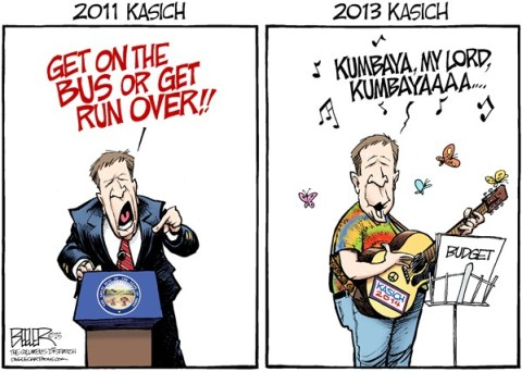 Nate Beeler - The Columbus Dispatch - LOCAL OH - Kasich Budget COLOR - English -