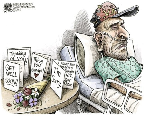 LOCAL Buffalo VA Hospital Scandal © Adam Zyglis,The Buffalo News,buffalo, va, veterans affairs, hospital, medical center, vets, hiv, hepatitis, insulin, pens, health care, infection, scandal