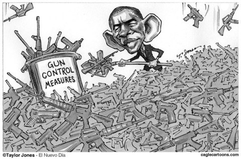 Taylor Jones - El Nuevo Dia, Puerto Rico - Obama digs gun control - English - 		barack,obama,guns,gun control,gun violence,assault,rifles,bushmaster,ban,assault weapons,second amendment,NRA,school shootings,futility