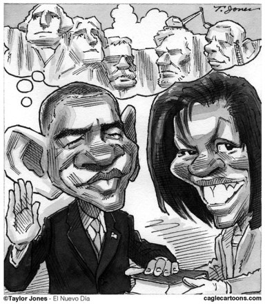 Taylor Jones - El Nuevo Dia, Puerto Rico - Obama has a dream - English - 		barack,obama,michelle,michelle obama,inauguration,oath of office,dream,mount rushmore