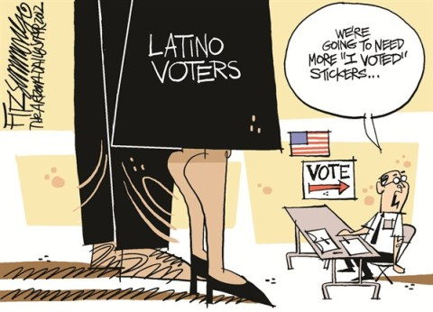 David Fitzsimmons - The Arizona Star - latino vote - English - latinos, latino vote, election