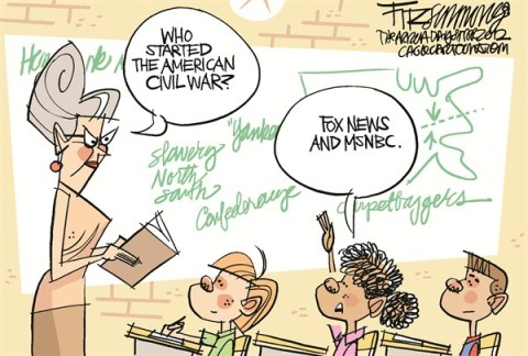 David Fitzsimmons - The Arizona Star - civility war - English - election, media, politics, discourse, bipartisanship, partisan politics