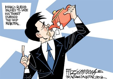 David Fitzsimmons - The Arizona Star - Thirsty Rubio - English - Marco Rubio, GOP, republican