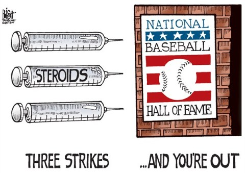 Randy Bish - Pittsburgh Tribune-Review - BASEBALL HALL OF FAME, COLOR - English - BASEBALL, HALL OF FAME, STEROIDS, DRUGS