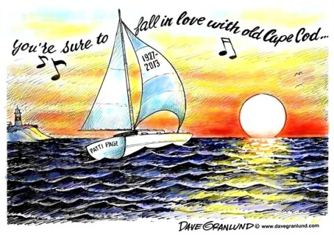 Dave Granlund - Politicalcartoons.com - Patti Page tribute - English - 		Singer,50s,Songs,hits,Old cape Cod,Tennesee waltz,obituary