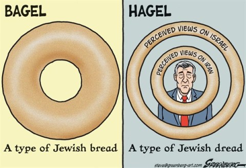 Steve Greenberg - Jewish Journal of Greater Los Angeles - Hagel Bagel - English - Chuck Hagel