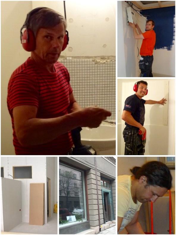 Salongen Colours by Jenny Hansson börjar ta form...